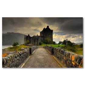 Αφίσα (σύννεφα, κτίριο, αρχιτεκτονική, αξιοθέατα, κάστρο, Σκωτία)